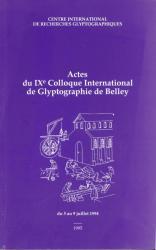 Actes Colloque Belley
